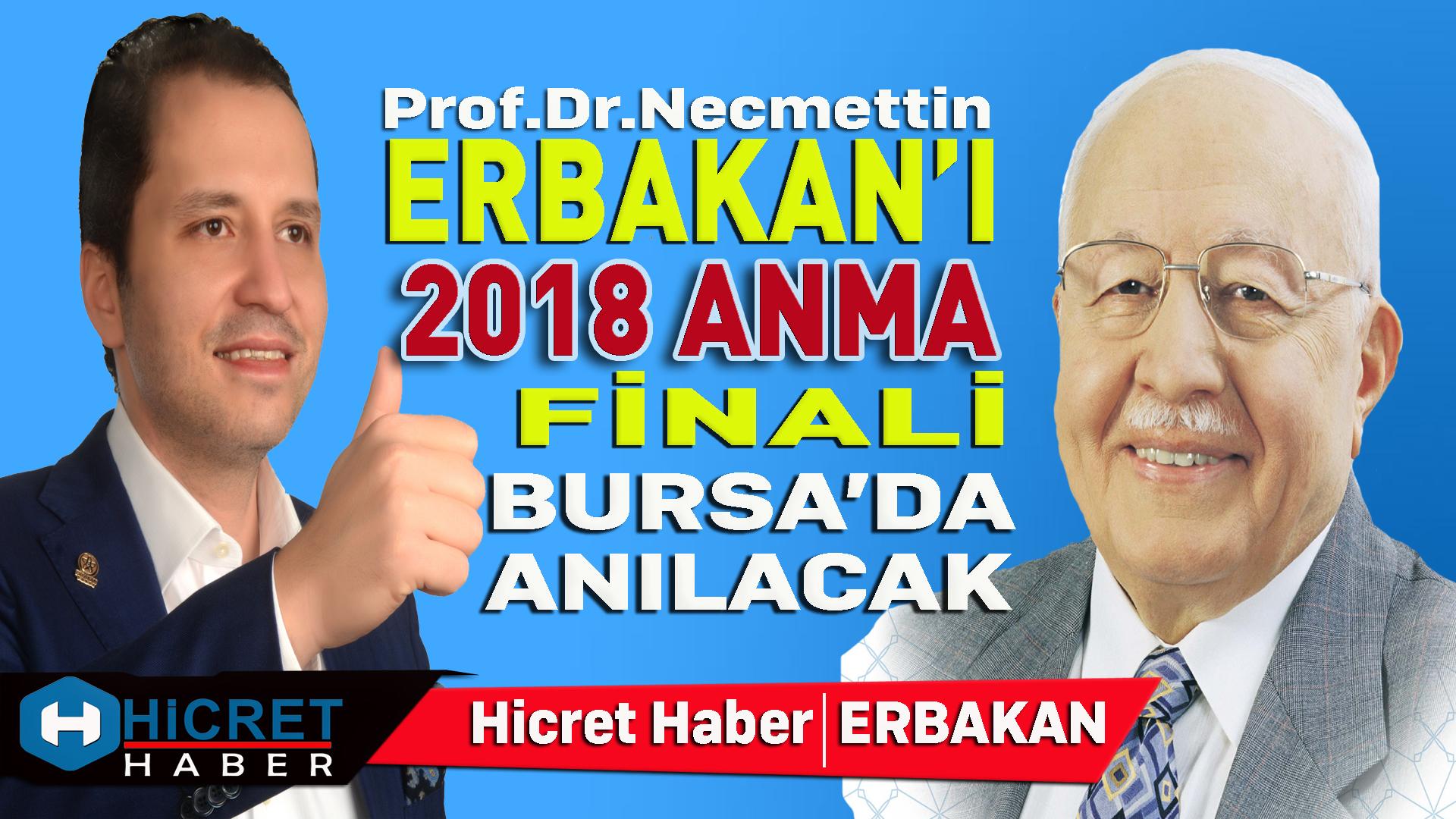 Erbakan'ı Anma Finali Bursa'da Yapılacak