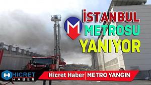 İstanbul 'nda Metrosu'nda Yangın Çıktı