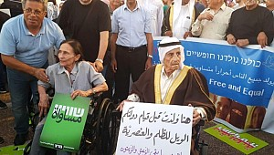 İsrail Ulus Devlet Yasası Tel Aviv'de Protesto Edildi