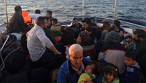 Didim'de lastik botta 32 kişi yakalandı