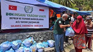 Endonezyalı 7 bin 400 afetzedeye acil yardım