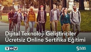 """""""Dijital Teknoloji Geliştiriciler"""" için SAS'tan Ücretsiz Online Sertifika Eğitimi"""