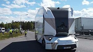 İsveç'te sürücüsüz kamyonun ilk test sürüşü yapıldı.
