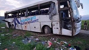 Küçükçekmece Belediyesine ait Otobüs Tokat Reşadiye'de kaza Yaptı