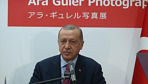 Cumhurbaşkanı Erdoğan, Kyoto'daki Ara Güler Sergisi'nin açılışında konuştu