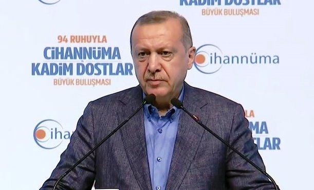 Erdoğan İstanbul'da 94 Ruhuyla Cihannüma Kadim Dostlar Büyük buluşmasında konuştu.