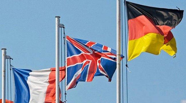 İngiltere, Almanya ve Fransa'dan ortak açıklama
