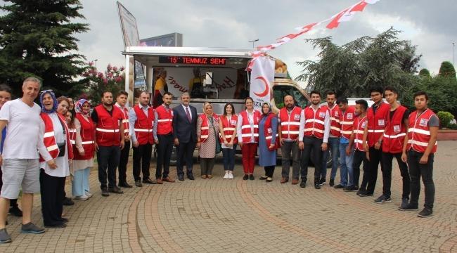Türk Kızılay Küçükçekmece Şubesi 15 Temmuz Şehitleri Anma Programı düzenledi