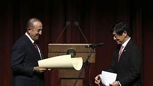 Çavuşoğlu'na Japonya'nın en yüksek nişanı takdim edildi