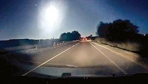 Geceyi meteor aydınlattı