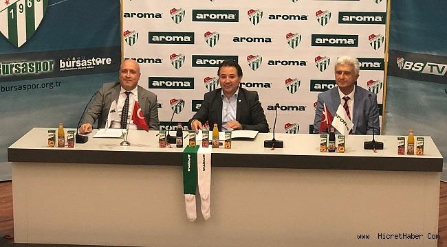 Aroma, Bursaspor'a Verdiği Desteği Bu Sezon da Sürdürüyor