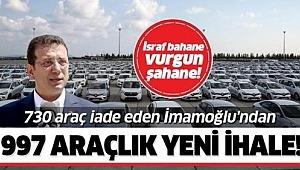 CHP'li İBB Başkanı Ekrem İmamoğlu'ndan 997 araçlık yeni ihale!.