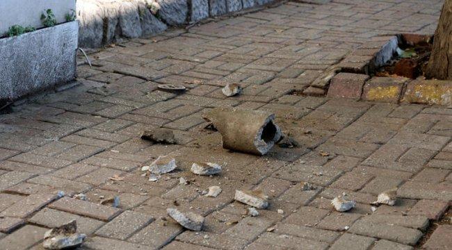 Beşiktaş'ta kaldırımda yürürken üzerine beton boru parçası düştü