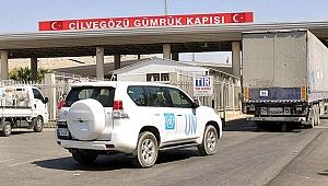 BM'den İdlib'e 36 TIR'lık yardım