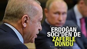 Erdoğan, Soçi'den diplomatik zaferle döndü