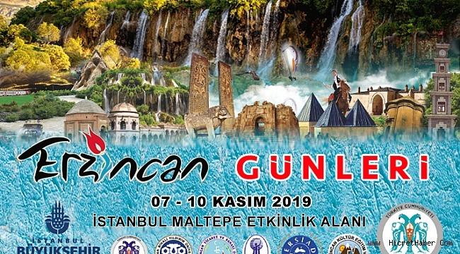 Erzincan 5-11 Kasım 2019 İstanbul'da Tanıtılacak
