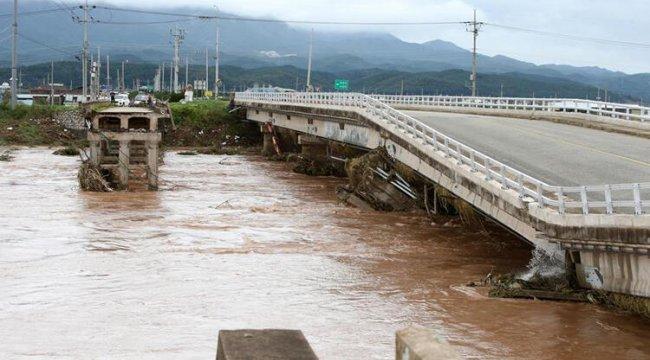 Mitag tayfunu Güney Kore'de 7 can aldı