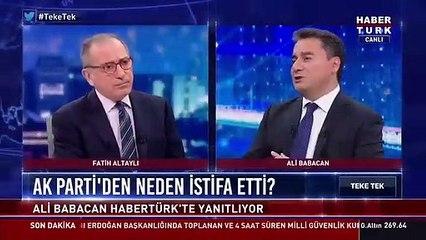 Ali Babacan AK Parti'den neden istifa ettiğini açıkladı