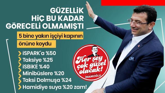 İstanbul'da her gün zam