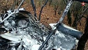 Rusya'da bir helikopter düştü, pilot hayatını kaybetti