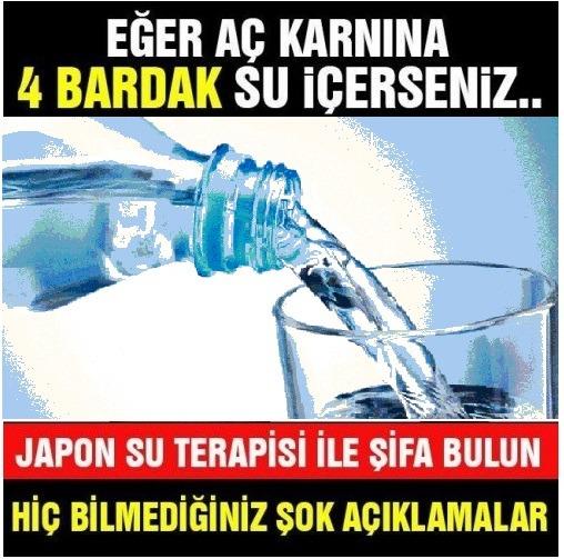 Sabah aç karnına 4 bardak su içmenin faydaları