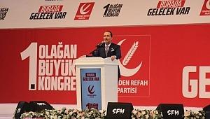 Yeniden Refah Partisi'nin 1.Olağan Büyük Kongresi yapıldı
