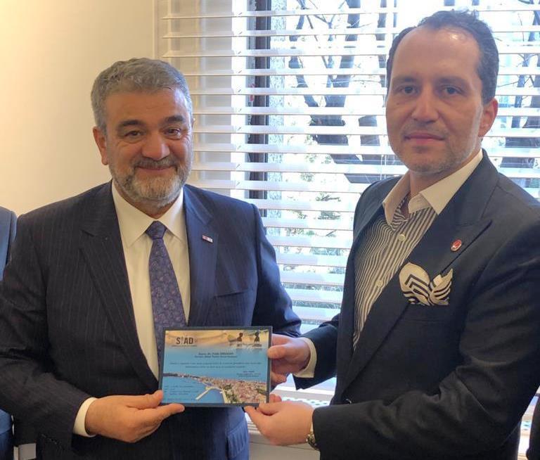 SİAD Başkanı Orhan Erbakan'ı ziyaret etti