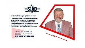 SİAD Başkanı Rafet ORHAN Tüm Sinopluları davet ediyor