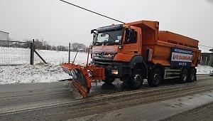 Çatalca ve Silivri ilçelerine kar yağdı.