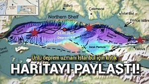 Deprem uzmanı İstanbul için kritik haritayı paylaşıp uyardı!