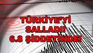Elazığ'da 6.8 büyüklüğünde deprem oldu