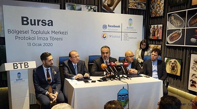 Facebook İstasyon'un Bursa'daki uydu merkezi için protokol imzalandı