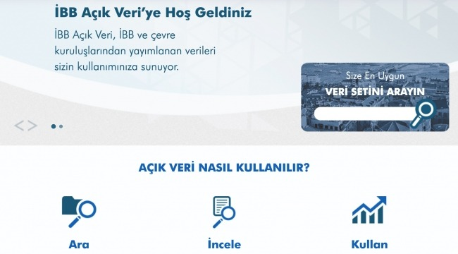 """""""İBB Açık Veri Portalı"""" hizmete sunuldu"""