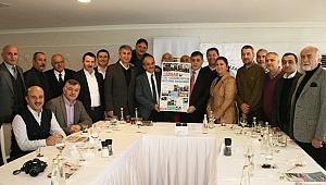 İliç Dernekler Federasyonu (İLDEF)Gazeteciler Günü'nde ERGAB üyelerini kahvaltıda ağırladı