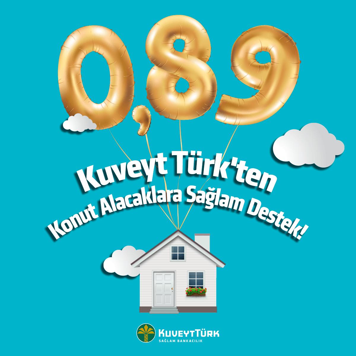 Kuveyt Türk kâr oranını konutta yüzde 0,89'a, araç finansmanında yüzde 0,96'ya düşürdü