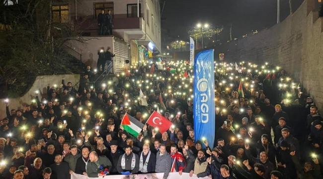 Sivil toplum kuruluşları,Trump'ın sözde Orta Doğu barış planını protesto etti.