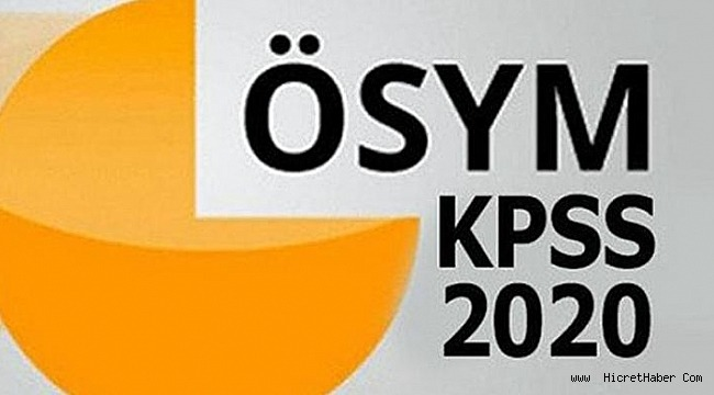 2020 KPSS tarihleri açıklandı!
