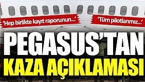 Pegasus Hava Yollar Sabiha Gökçen Havalimanı'ndaki kaza için Basın Açıklaması yaptı