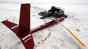 Rusya'da dağlık alana helikopter düştü