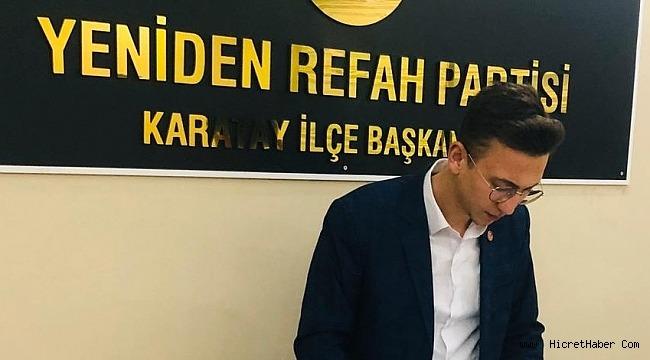 Yeniden Refah Partisi Karatay Gençlik Kolları Basın Açıklaması yayınladı