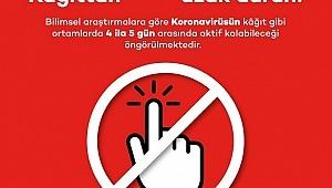 Koronavirüsten korunmak için ofiste kâğıttan uzak durun!