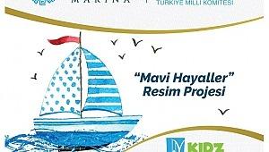 """Çocuklar 23 Nisan'ın 100. Yıldönümünde """"Mavi Hayaller """"Resim projesi ile mutluluğu paylaşıyor!"""