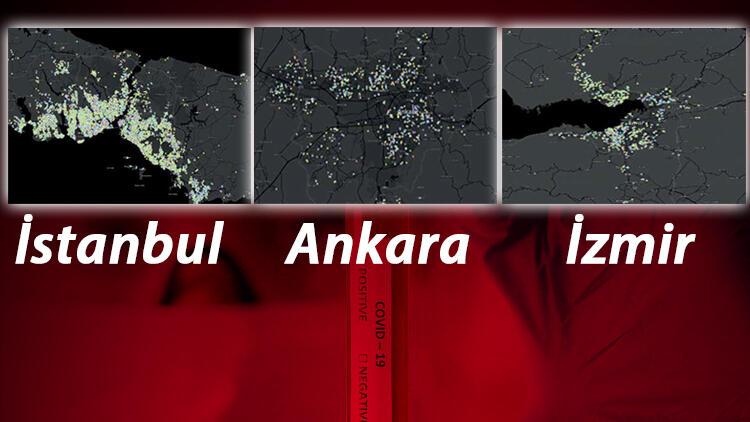 Coronavirüs vakada İstanbul, Ankara ve İzmir'de En Riskli ilçeler