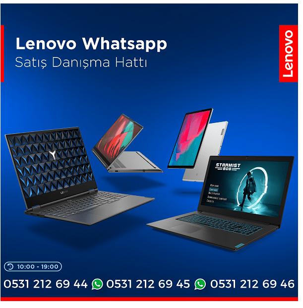 Lenovo Türkiye, WhatsApp Danışma Hattı'nı hizmete sundu
