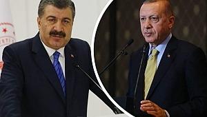 Sağlık Bakanı Fahrettin Koca Cumhurbaşkanı Recep Tayyip Erdoğan'ı Geçti