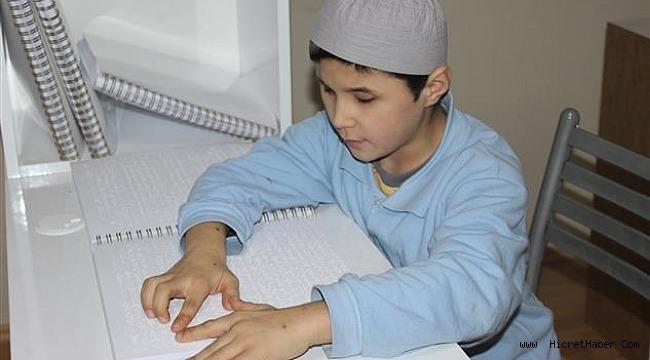 Çamlıkaltı Erkek Kur'an Kursu'nda, görme engelliler HAFIZLAR