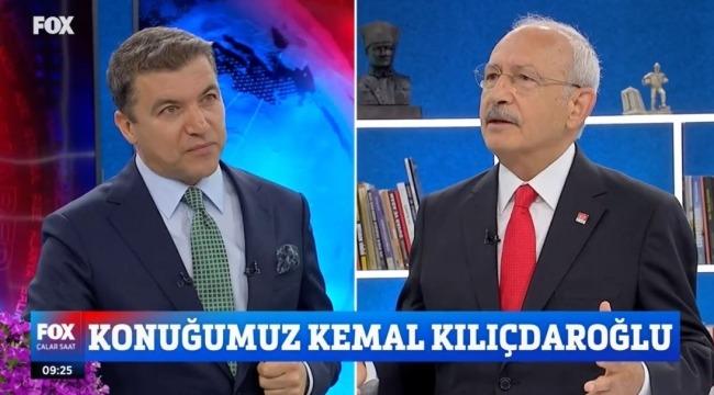 CHP Genel Başkanı Kemal Kılıçdaroğlu,Fox TV'de Önemli Açıklamalar Yaptı.