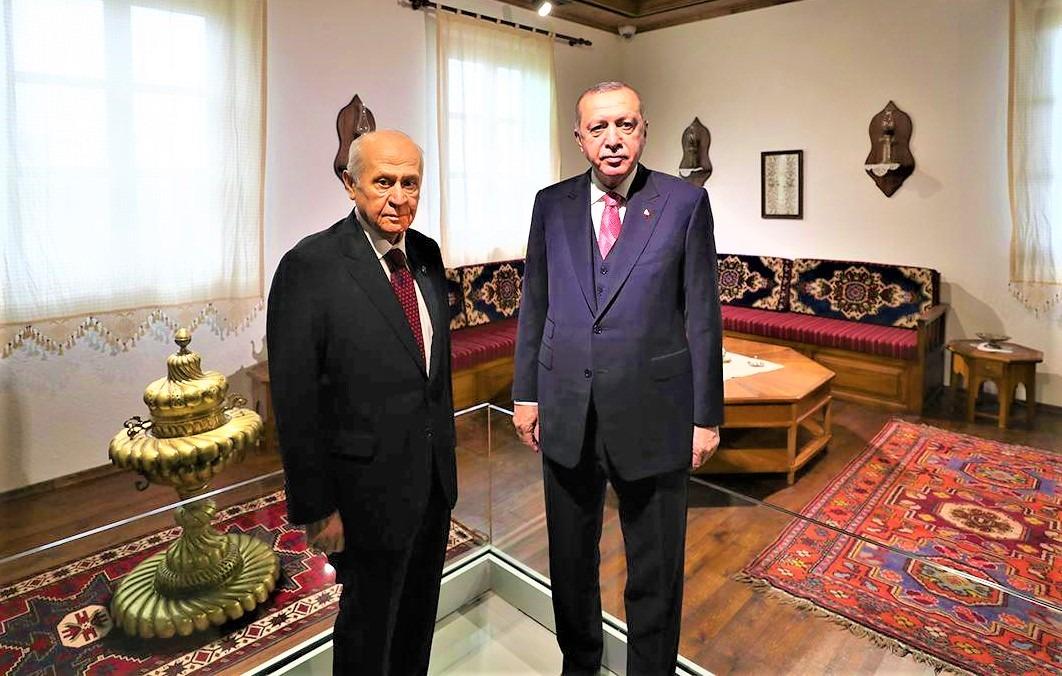 Cumhurbaşkanı Erdoğan ve MHP Genel Başkanı Bahçeli Demokrasi ve Özgürlükler Adası'nı gezdi