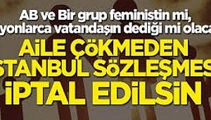 Türkiye Aile Meclisi: Aile yıkan sözleşmeler AİHS ve CEDAW'dır