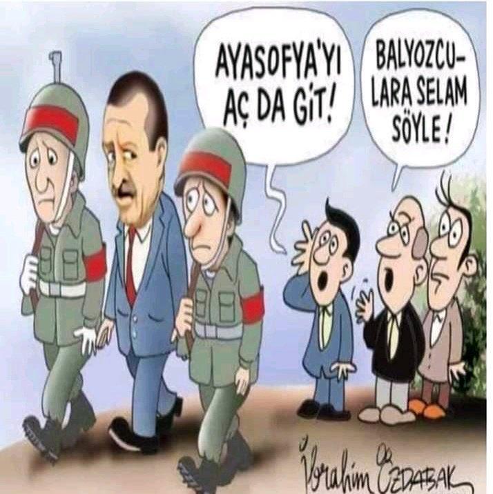 Yeni Asya gazetesi bugün darbe iması içeren bir karikatür yayınladı.